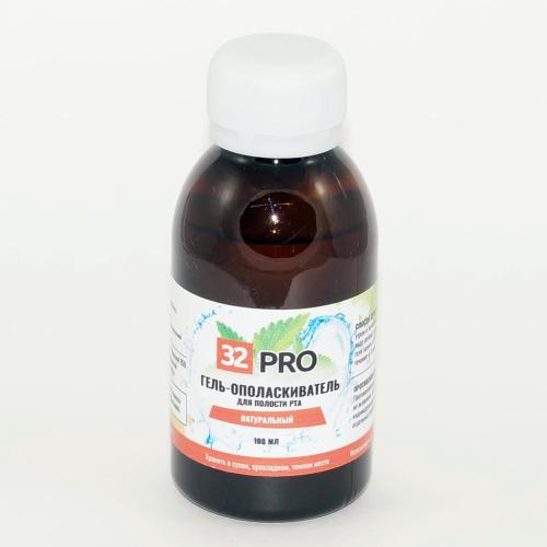 """Натуральный гель-ополаскиватель для полости рта """"32 pro"""" (100мл)"""
