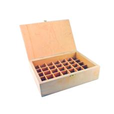 Ящичек для эфиров фанерный 35 ячеек