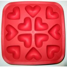 Формочки для мыла и плиток сердечки