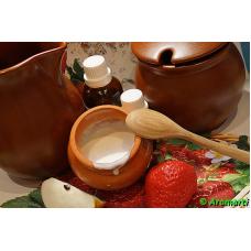 Яблочно-клубничное молочко после депиляции или бритья